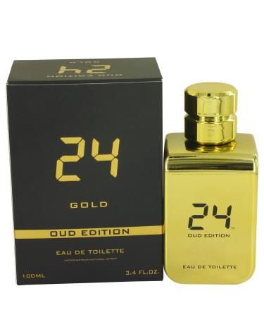 24 Gold Oud Edition by ScentStory For Men - Eau De Toilette Concentree Spray (Unisex) 100 ml