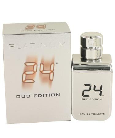 24 Platinum Oud Edition by ScentStory For Men - Eau De Toilette Concentree Spray (Unisex) 100 ml