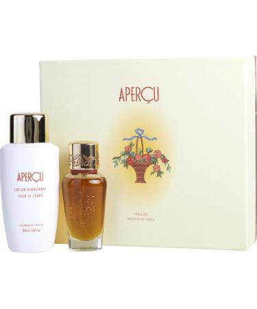 APERCU by Houbigant For Women - Gift Set -- 1.7 oz Eau De Toilette Spray + 6.7 oz Body Lotion
