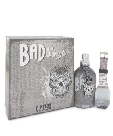 Bad for Boys by Clayeux Parfums For Men - Eau De Toilette Spray + Free LED Watch 100 ml