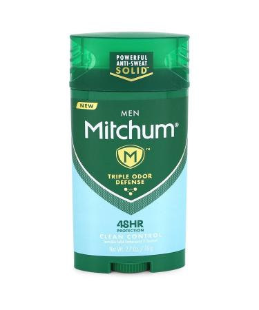 Mitchum Triple Odor Defense Clean Control by Mitchum For Men - Clean Control Antiperspirant & Deodorant Stick 80 ml